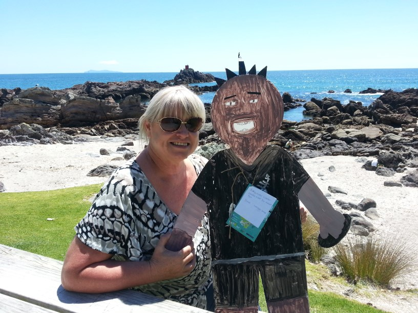 Conner & Raewyn the kindy teacher at Mount Maunganui